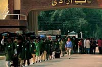 Wagah, Pakistan  click to enlarge  file size