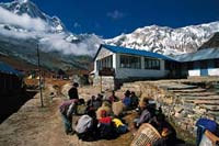 Macchapuchare Base Camp, Nepal  click to enlarge  file size