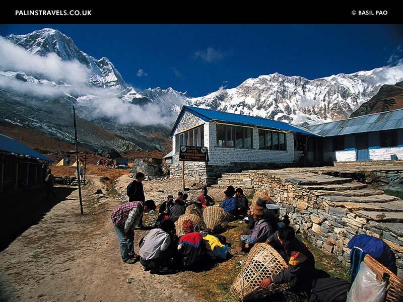 Palin's Travels: Himalaya, Macchapuchare Base Camp, Nepal