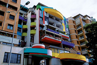 Tirana's colourful architecture  click to enlarge  file size