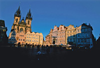 The Old Town Square, Prague  click to enlarge  file size